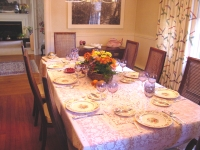 a table set and ready for a Shabbat meal