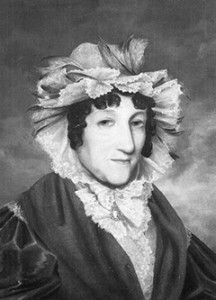 Esther Abrahams, the best known of the Jewish convicts to arrive with the First Fleet in 1788. As the partner and eventually wife of Lt. George Johnston she had a prominent position in colonial Sydney society