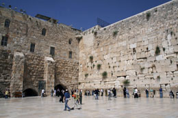 The Kotel (Western Wall) in Jerusalem.