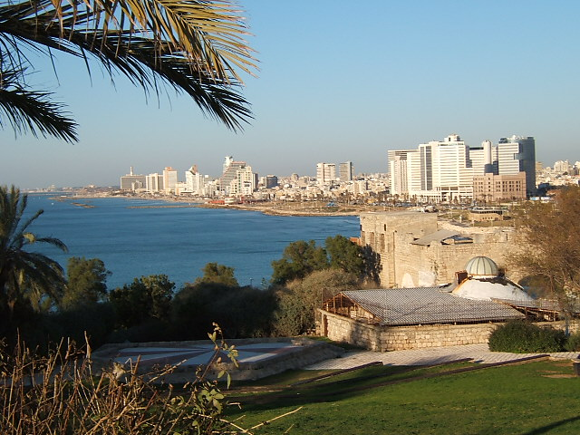 Tel Aviv as viewed from the nearby coastal town of Jaffa (Photo courtesy of Wikimedia Commons)
