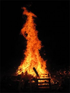 Bonfires are often lit in celebration of Lag baOmer.