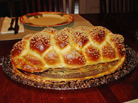 a loaf of challah