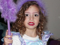 a child in fancy dress for Purim