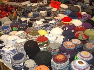 Kippot come in a range of colours, styles and designs