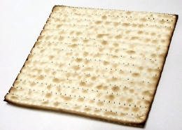 A sheet of matzah