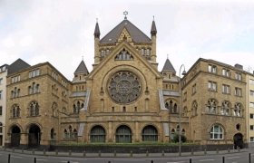 The synagogue in Cologne, Germany.