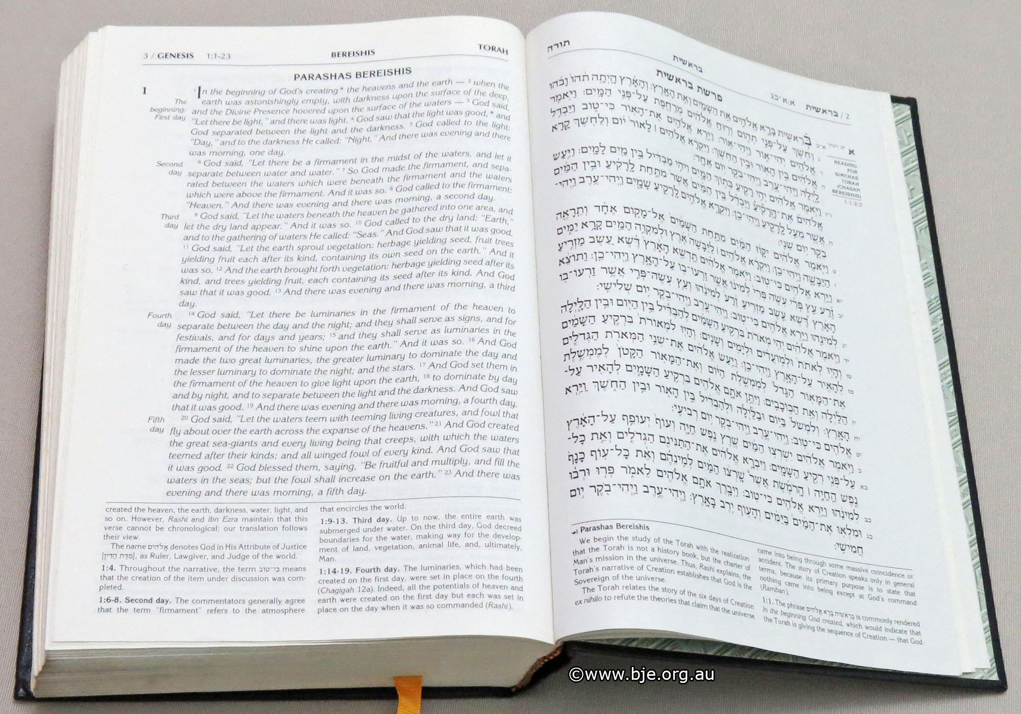 The First Page Of Tanach Hebrew Bible