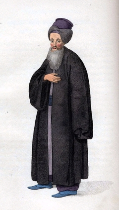 A 1779 painting showing a Jewish man from the Ottoman Empire (picture courtesy of Wikimedia Commons)
