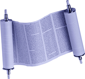 An open Sefer Torah (Torah scroll)