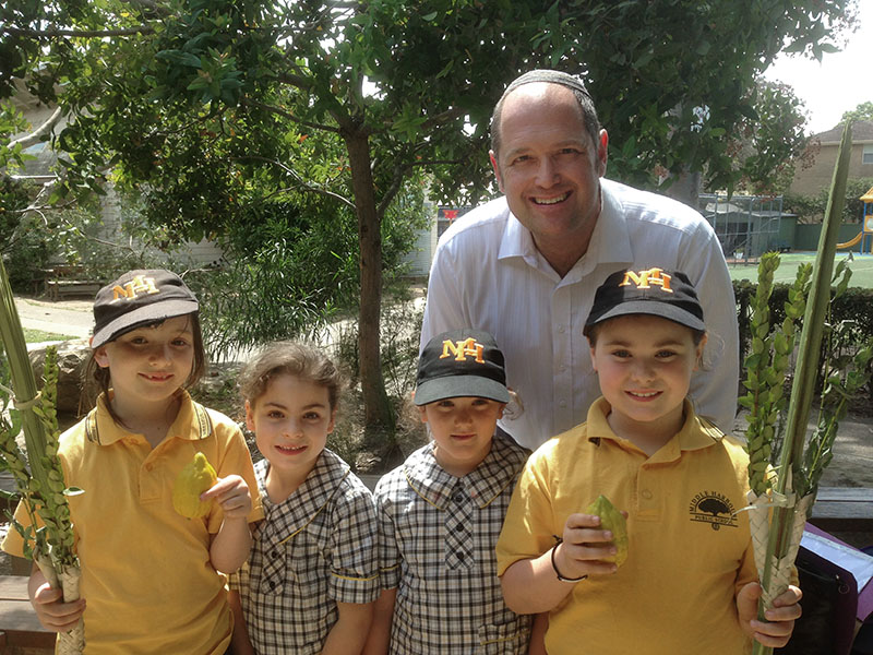 SRE students learn about Sukkot at their local school
