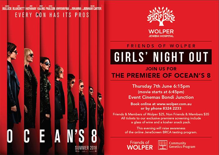 Friends of Wolper Girls' Night Out - 7 June 2018